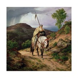 The Return of the Crusader, 1835 Lámina giclée por Carl Friedrich Lessing
