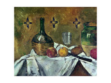 Flask, Glass and Fruit, 1877 Giclee Print by Paul Cézanne