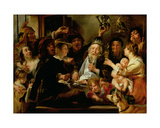 The Bean King (The King Drinks), C.1638 Giclee Print by Jacob Jordaens