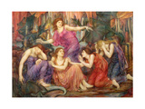 The Captives Giclee Print by Evelyn De Morgan
