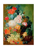 Still Life with Fruit, Flowers and Bird's Nest Giclee Print by Jan van Os