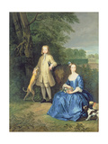 Portrait of Master Edward and Miss Mary Macro, 1733 Giclee Print by Peter Tillemans