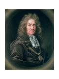 Portrait of Elias Ashmole (1617-92) English Antiquary, 1689 Giclee Print by John Riley