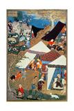 Or 2265 Folio 1576 Camp Scene by Mir Sayyid'Ali, from the 'Khamsa' of Nizami, Tabriz, 1539-43 Gicléedruk