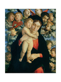 Madonna and Child with Cherubs Giclee Print by Andrea Mantegna