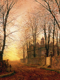 In the Golden Olden Time, C.1870 Giclee Print by John Atkinson Grimshaw