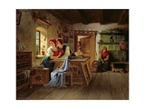 Lovers in the Kitchen Giclee Print by Johann Kurtweil