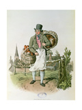 The Baker From,'Costume of Great Britain' Giclee Print by William Henry Pyne