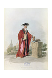Doctor of Civil Law at Oxford University from 'Costume of Great Britain', 1805 Giclee Print by William Henry Pyne