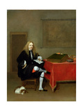 Portrait of a Man in His Study, C.1668-69 Giclee Print by Gerard ter Borch or Terborch