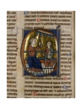 Historiated Initial 'C' Depicting Two Musicians, One Playing the Viol and the Other the Bell… Giclee Print