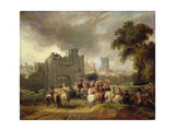 Charles I (1600-49) before Hull, 1819 Giclee Print by George Arnald