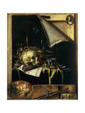 Vanitas (Still Life - Trompe L'Oeil) 1664 Giclee Print by Cornelis Norbertus Gysbrechts