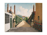 St. James' Square, Bristol: View of the Garden, C.1805-06 from a Paved Patio Giclee Print by Thomas Pole