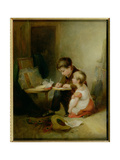 Two Children at Drawing Lessons Giclee Print by John Frederick Pasmore