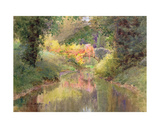Autumn in the Garden at Houghton Tower, Lancashire Giclee Print by Charles Edwin Flower