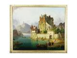 The Castle Ferry, C.1851 Giclee Print by Heinrich von Rustige