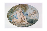 Venus Reclining on a Bank Strewn with Drapery Giclee Print by Francesco Bartolozzi