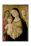 Madonna and Child with St. John the Baptist and St. Michael the Archangel, C.1485-95 Giclee Print by  Matteo Di Giovanni Di Bartolo