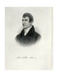 Portrait of Captain Meriwether Lewis (1774-1809) Engraved by Samuel Hollyers (1826-1919) for… Giclee Print by Charles Willson Peale