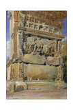 Arch of Titus, Rome, 1842 Giclee Print by Thomas Hartley Cromek