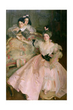 Mrs. Carl Meyer, Later Lady Meyer, and Her Two Children, 1896 Giclee Print by John Singer Sargent
