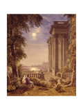 Lovers by Moonlight, 1831 Giclee Print by George The Younger Barret