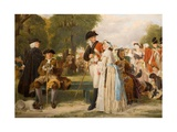 The World Forgetting - Sunday Afternoon in Kensington Gardens, 1877 Giclee Print by John Callcott Horsley