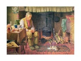 By the Fireside Giclee Print by Henry Spernon Tozer