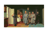 Policemen Singing Carols, 1867 Giclee Print by Leonid Ivanovich Solomatkin
