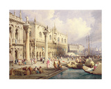 The Molo and the Doges' Palace, Venice Giclee Print by Samuel Prout