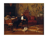 Louis Signorino Seated in His Study Giclee Print by Gustave Bourgain