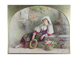 A Contadina Reposing Giclee Print by William Linnaeus Casey
