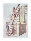 The Lamplighter from 'Costume of Great Britain', 1805 Giclee Print by William Henry Pyne