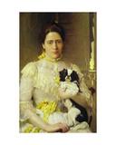 Lady with a Lap Dog Giclee Print by Eduardo-leon Garrido
