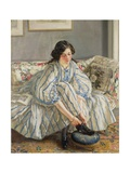 Tying Her Shoe Giclee Print by Sir Walter Russell