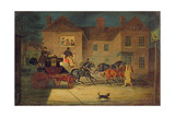 The Lioness Attacking the Exeter Mail Giclee Print by James Pollard