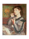 Portrait of Giovinetta Giclee Print by Dante Gabriel Rossetti