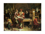 Caxton's Printing Press, 1851 Giclee Print by Daniel Maclise