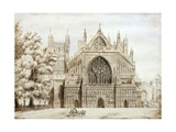 Exeter Cathedral, West Front Giclee Print