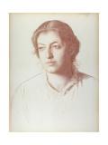 Portrait of Euterpe Ionides, Afterwards Mrs. W. F. Craies Giclee Print by Joseph Benwell Clark