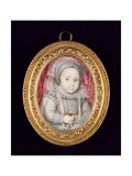 Portrait Miniature of a Child Giclee Print by Isaac Oliver