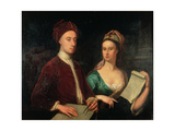 Portrait of Richard Boyle, 3rd Earl of Burlington (1695-1753) and His Wife Lady Dorothy Savile… Giclee Print by William Aikman