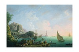 Italian Port Scene (Sunset) Giclee Print by Thomas Patch