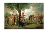 Robert Kett (D.1549) under the Oak of the Reformation Giclee Print by Samuel Wale