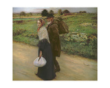 Les Emigrants Giclee Print by Jules-Alexis Neumier