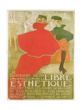 Poster Advertising 'Le Quatrieme Salon Annuel De La Libre Esthetique', 1897 Giclee Print by Théo van Rysselberghe