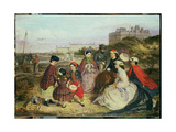 A Victorian Family at the Seaside Giclee Print by Charles Wynne Nicholls