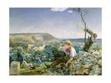 The Stonebreaker, C.1857-58 Giclee Print by John Brett