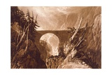 F.19.I Little Devil's Bridge, from the 'Liber Studiorum', Engraved by Charles Turner, 1809 Giclee Print by J. M. W. Turner